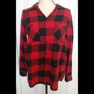 Red and Black Buffalo Check Longsleeve Shirt